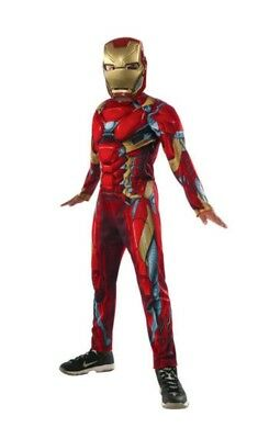 Youth Boy's Muscle Chest Halloween Costume & Mask: S-L (Iron Man Halloween Costume)