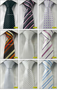 Wholesale 5 PCS Men Woven Silk Slim Skinny Handmade Wedding Necktie 2.5
