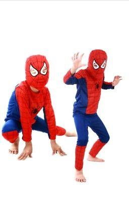 Super Red Spider  Bat Black Venom Dress Boy Kids Costume Halloween Xmas uk (Bat Boy Kostüme)