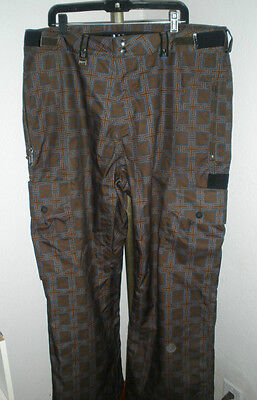 Men's Bonfire Aero Vented Snowboard Pants Sz Extra Large Classic Fit AWESOME!