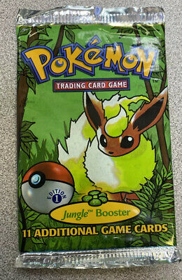 Pokemon 1st Edition Jungle Booster Pack Opened 1999 Flareon Art - Mint Cond
