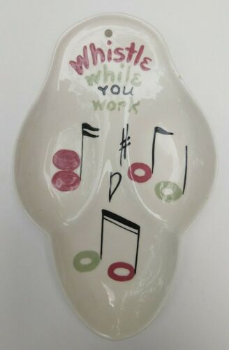 VTG SPOON REST WALL HANGING CALIFORNIA CLEMINSONS POTTERY DISNEY SNOW WHITE NOTE