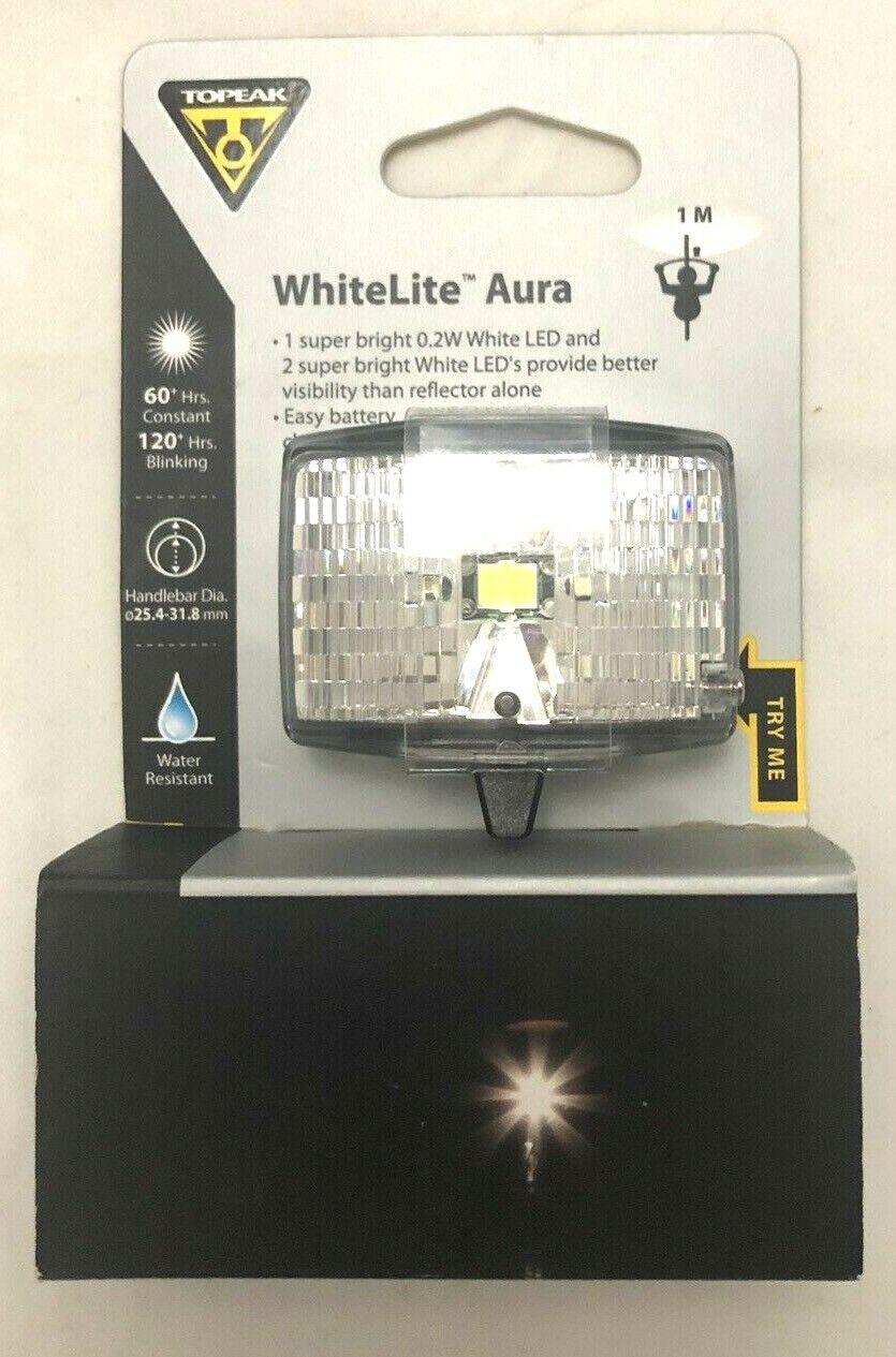 Topeak WhiteLite Aura Bike Safety Light NEW