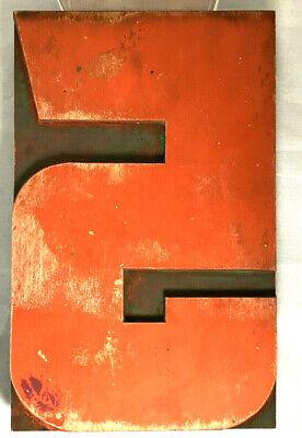 Vintage Wood Letterpress Print Type 8 Printers Block Cut Number 5