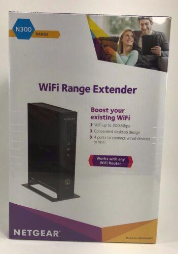 NETGEAR N300 Wireless-N Repeater and Range Extender Black WN2000RPT-200NAS