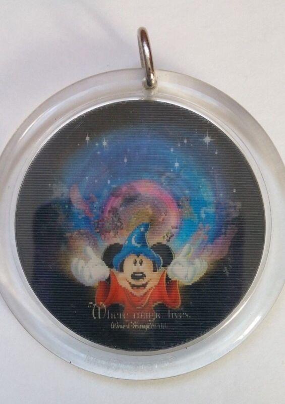 Disney Sorcerer Mickey Mouse Fantasia Holographic Lanyard Base Charm Emblem