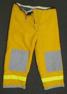 48x28 Janesville Pants Firefighter Turnout Bunker Fire Gear W Liner P002
