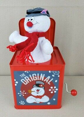 """Frosty Jack-In-The-Box Gemmy Musical Plays """"Frosty the Snowman"""" RARE"""
