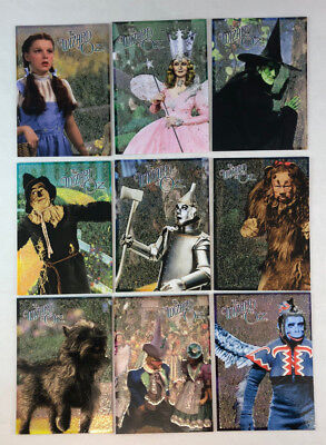 THE WIZARD OF OZ SERIES 2 Breygent Complete CHARACTER CARDS Chase Card Set (9)