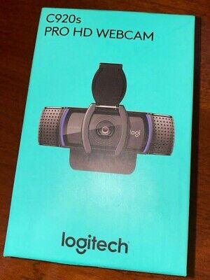 Logitech C920s Pro HD 1080p Webcam w/ Privacy Shutter - In Hand FAST/FREE SHIP