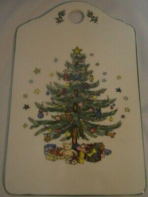 Vintage Ceramic Christmas Package Tag Christmas Tree Best WishesTrivet