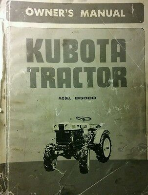 Kubota B6000 Diesel 4x4 Tractor Implements Operator Parts 4 Manuals170pg