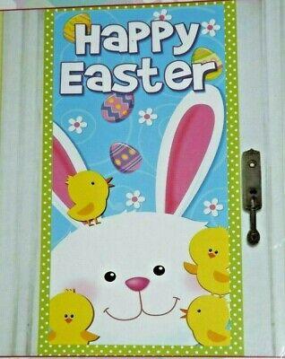 Happy Easter Door Cover Bunny Wall Mural Photo Prop Classroom Door Decor 30 x 60 Happy Easter Door Cover