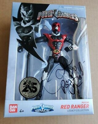 POWER RANGERS LEGACY PSYCO RED RANGER SPACE 2018. SIGNED BY THE RANGER HIMSELF!