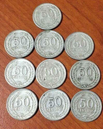 COINS EL SALVADOR 1953 - SILVER 0.900 - 50 CENTS - PRICE FOR 1 PIECE