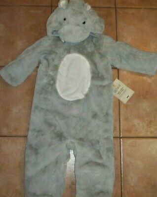 Pottery Barn Kids Halloween Baby Hippo Costume Gray 12 - 24 Months #1828 (Kids Hippo Costume)