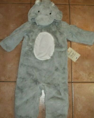 Pottery Barn Kids Halloween Baby Hippo Wild Zoo Costume Gray 12- 24 Months #1828
