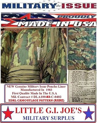 Poncho Liner NEW Military Issue EDRL Woodland Camo Poncho Liner Woobie
