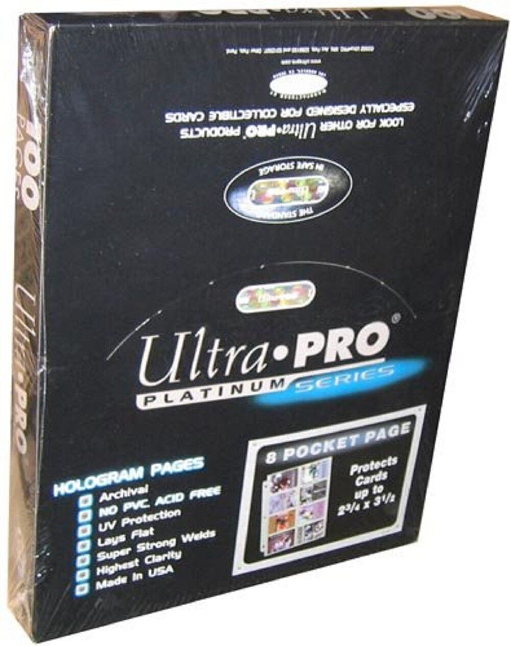 200 ULTRA PRO PLATINUM 8-POCKET 2 3//4 x 3 7//8 Pages Sheets Protectors Brand New