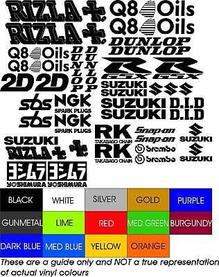 S4 GSXR RIZLA Q8 BREMBO RACE BIKE DECAL STICKERS