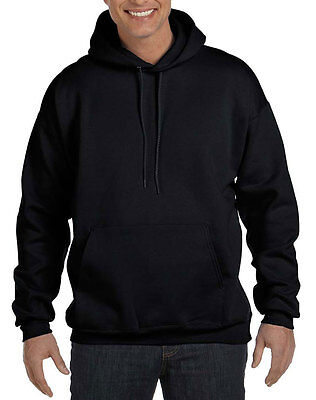 Hanes Ultimate Cotton Pullover Hood Sweatshirt - Black Navy Blue White Grey Red (Hanes Adult White Sweatshirts)