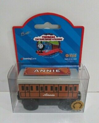 NEW Thomas the Tank Engine & Friends Wooden Railway Annie 1999 Brown Label 99011