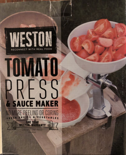 Weston Tomato Press & Sauce Maker, White 07-0801 Sauce Maker