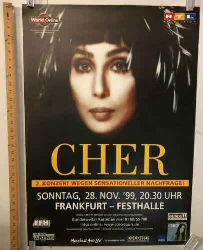 Cher 1999 German Concert Poster In Frankfurt @ Festhalle Classic Pop Dance