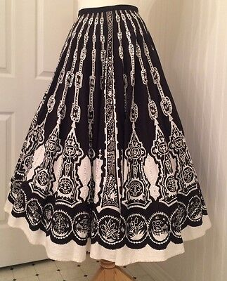 vintage mexican 1950's circle skirt, sequins