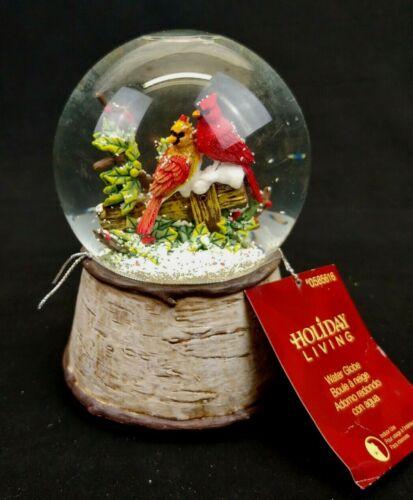 Holiday Living Musical Water / Snow Globe Cardinals # 0585616
