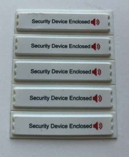 AM SECURITY LABELS COMPATIBLE W/SENSORMATIC® SYSTEMS w/WARNING TEXT 5K PER BOX