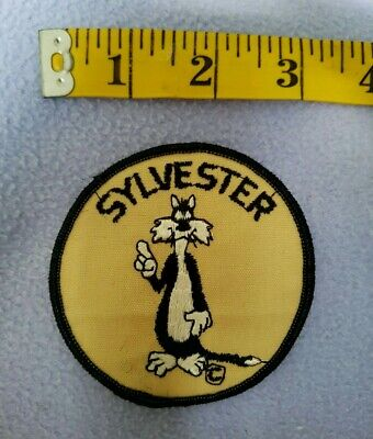 70's Vintage Sylvester The Cat Sew-on 3 inch Embroidered Patch - New - US Shipp