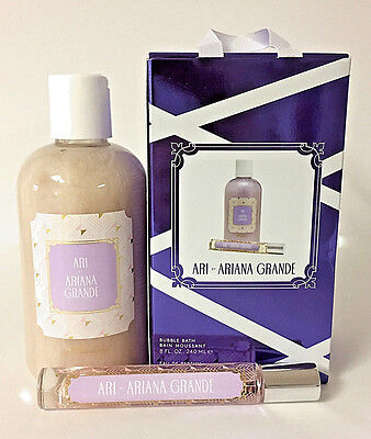 Ari By Ariana Grande   Bubble Bath And Edp Rollerball Gift Set  Boxed