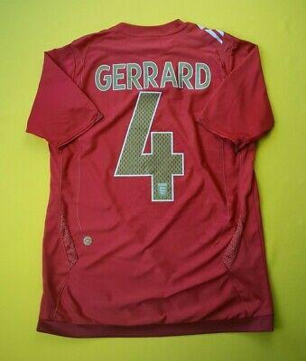 2ec69d653 5 5 Gerrard England soccer jersey small 2006 2008 away shirt Umbro football  ig93