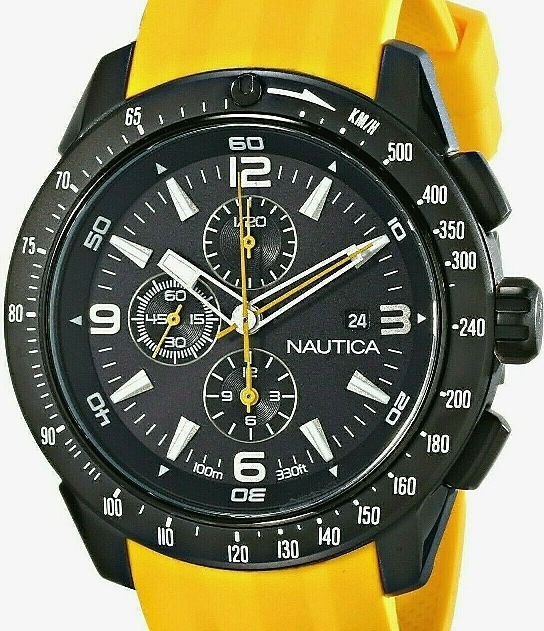Nautica Men's N18599G NST 101 Stainless Steel Watch with