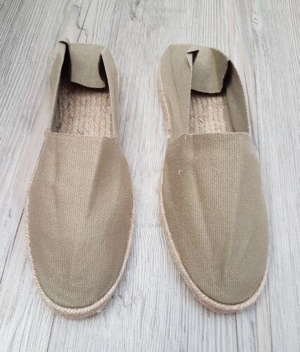 Espadrilles vertes claires / artisanat franÇais/ taille 39/espadrille kaki clair