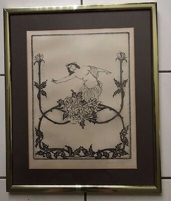 Pencil Charcoal Drawings - CHARCOAL AND PENCIL DRAWING SIGNED MARY NORTHRIDGE TRIAL PROOF  T/P