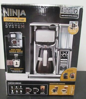 Ninja Coffee Bar Glass Carafe System CF090A with Frother & Ice Coffee Carafe