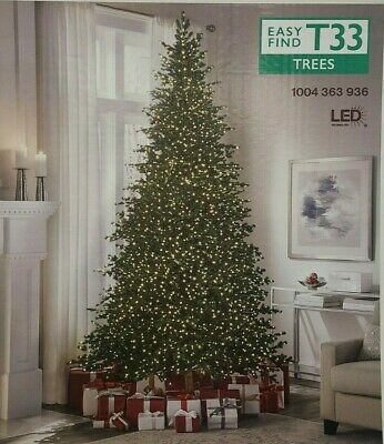 NEW!!  9 ft Elegant Grand Fir LED Pre-Lit Artificial Christmas Tree with Timer