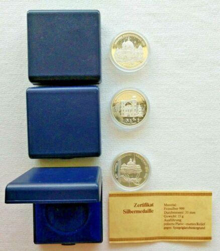 Lot of 3 EuroMint .999 Silver 15g Berliner Weihnachtstaler & Rellingen Bullion