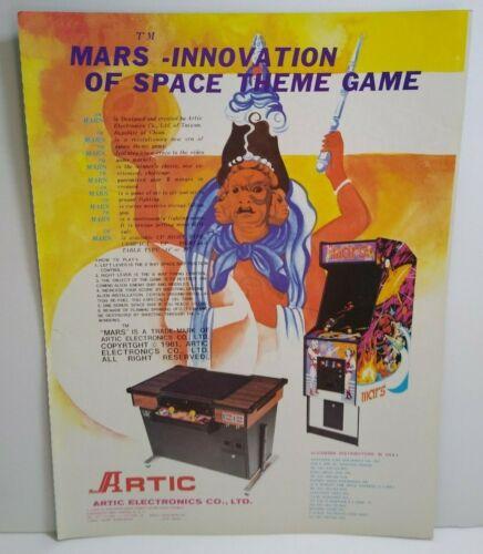 Mars Video Arcade Game Promo AD Artwork 1981 Artic Retro Gaming Advertising