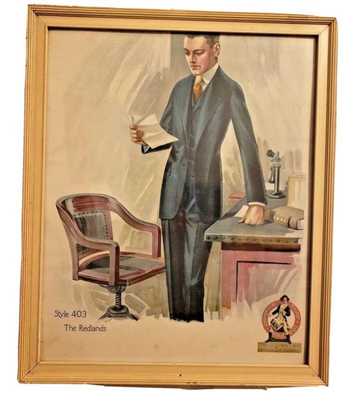 Vintage J. L. Loveday Advertising Art Print Continental Tailors Framed