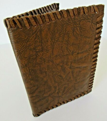 Old handcrafted leather portfolio
