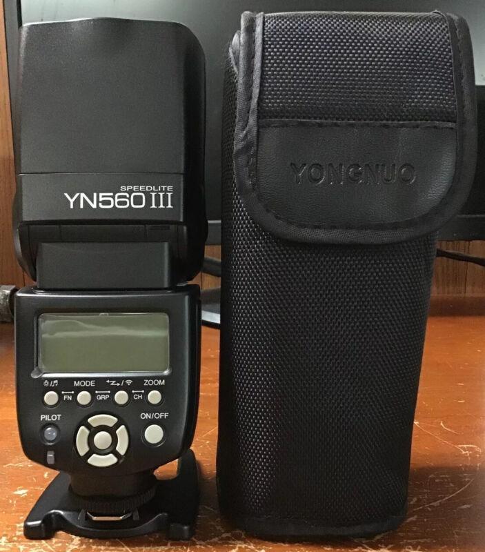 YONGNUO Speedlite YN-560-III Shoe Mount Flash for Canon Used