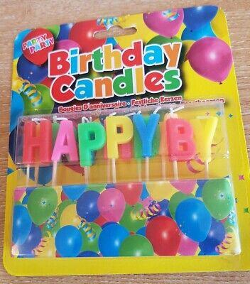 Feliz Cumpleaños Velas Pastel Fiesta Decoración Colorido Broma GB