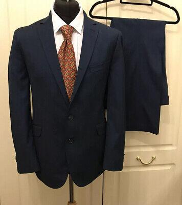 """KENNETH COLE REACTION Mens Blue 2 Button Suit Chest 38"""" W32"""" L30"""""""