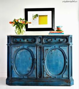 French Country sideboard with Carrara marble top