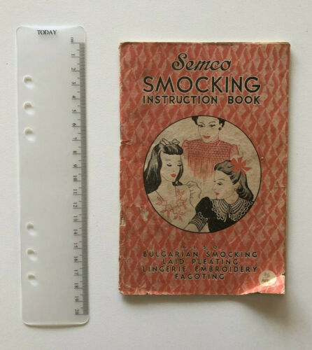 Semco Smocking Instruction Booklet Vintage Embroidery Fagoting 1930s