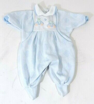 Baby Dior One Piece Bodysuit Baby Outfit SMALL TO 11 LBS. Light Blue Bear Bunny