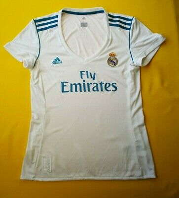 5b3f7e86a9a 5+/5 Real Madrid women jersey large 2018 home shirt B31110 soccer Adidas  ig93
